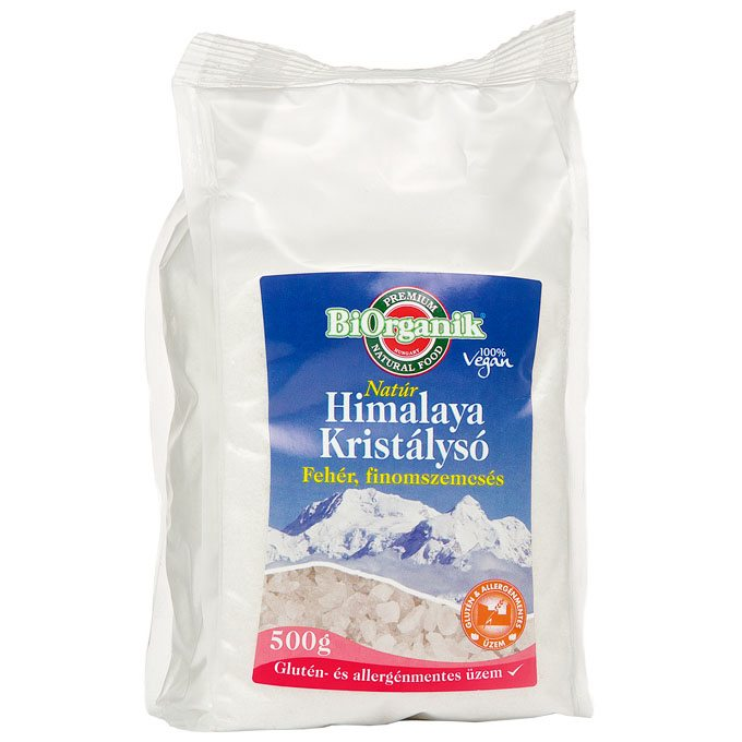 Biorganik Natúr Himalaya kristálysó fehér - 500g