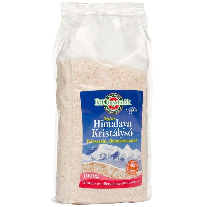 Biorganik Natúr Himalaya só rózsaszín finom - 1000g