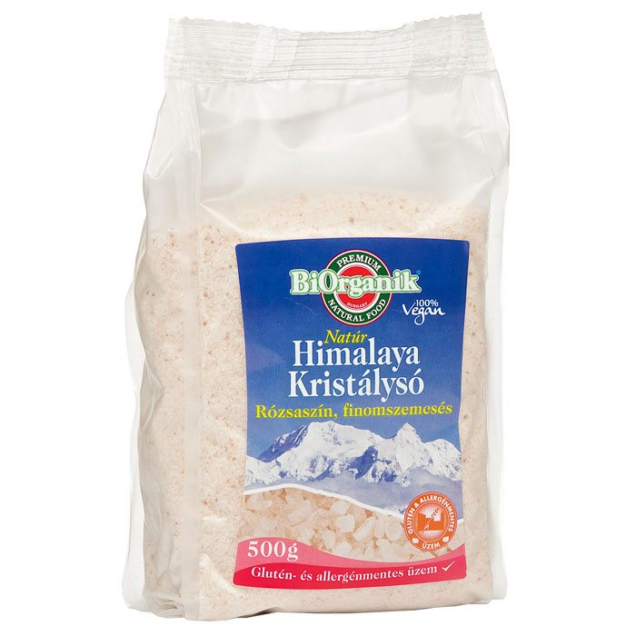Biorganik Natúr Himalaya só rózsaszín finom - 500g