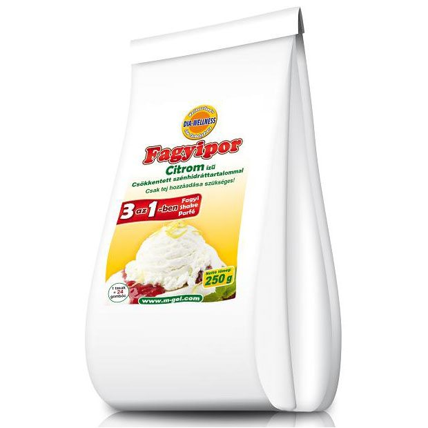 Dia-wellness citrom ízű fagylaltpor - 250g
