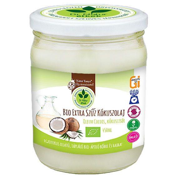 Dr. Natur étkek Bio extra szűz kókuszolaj (VCO) - 450ml
