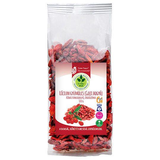 Dr. Natur étkek Lícium gyümölcs (Lycium Barbarum, Goji bogyó) - 100g