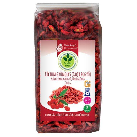 Dr. Natur étkek Lícium gyümölcs (Lycium Barbarum, Goji bogyó) - 300g