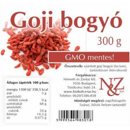 N&Z Goji bogyó - 300g