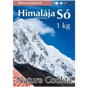 Nature Cookta Himalája sötét rózsaszín durva szemcsés só - 1000g