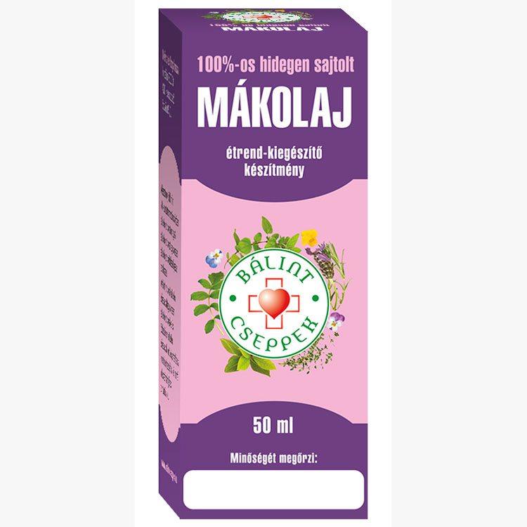 Bálint Cseppek mákolaj 100% - 50ml
