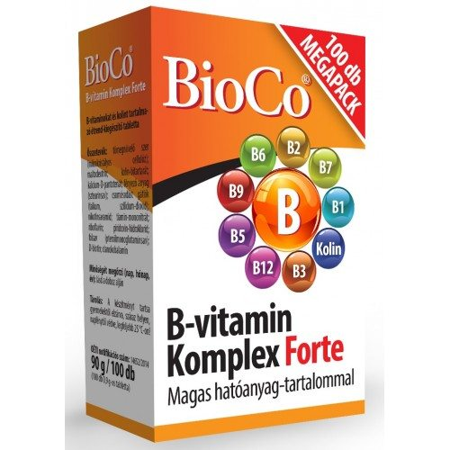 BioCo B-vitamin komplex forte tabletta - 100 db
