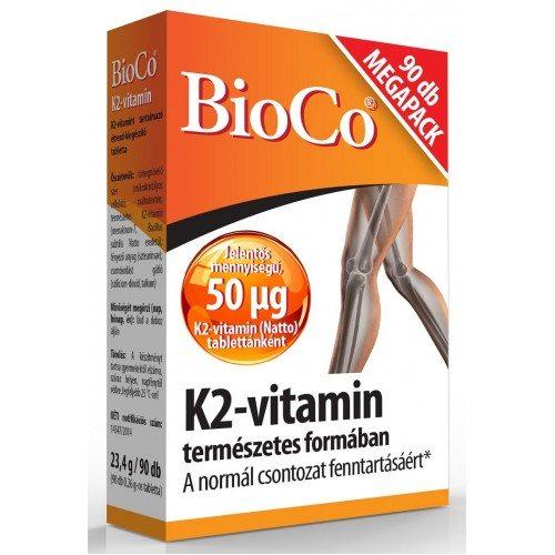 BioCo K2-vitamin tabletta - 90 db