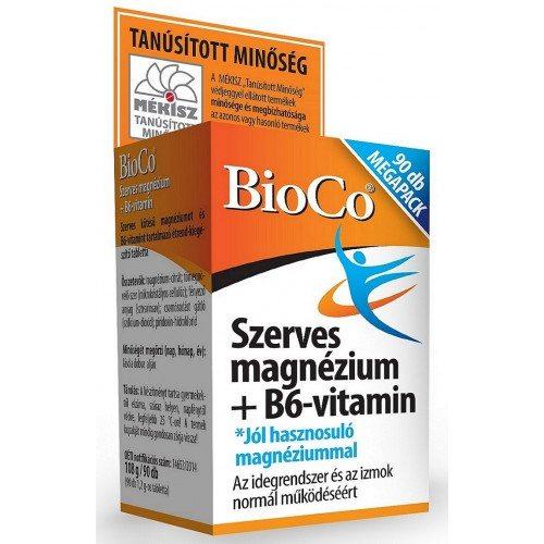 BioCo Szerves Magnézium+ B6 tabletta - 90 db