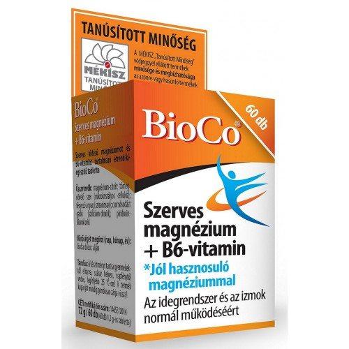 BioCo Szerves Magnézium + B6-vitamin tabletta - 60db