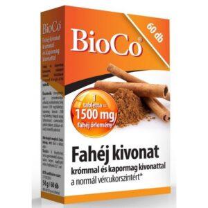 BioCo fahéj tabletta - 60db