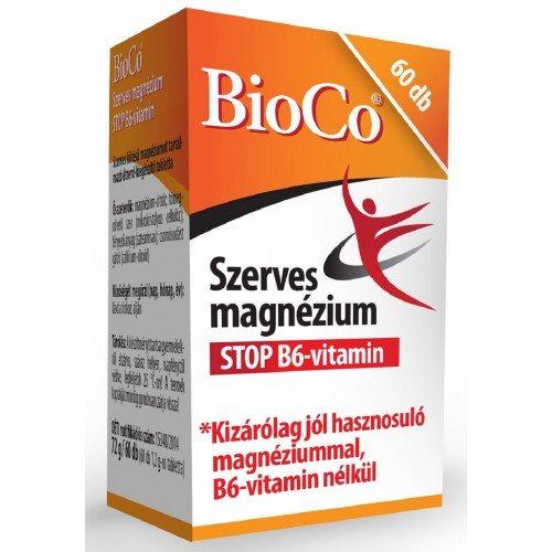 BioCo szerves magnézium STOP B6-vitamin tabletta - 60db