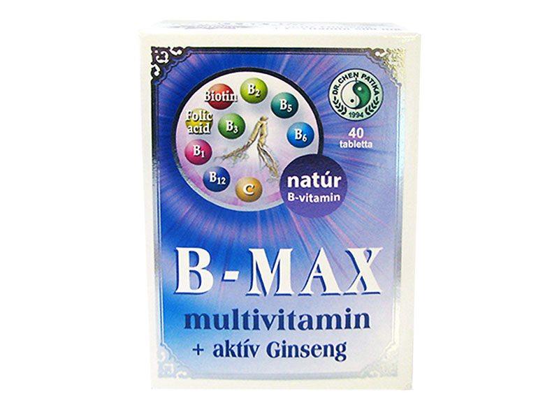 Dr. Chen B-Max multivitamin tabletta - 40db