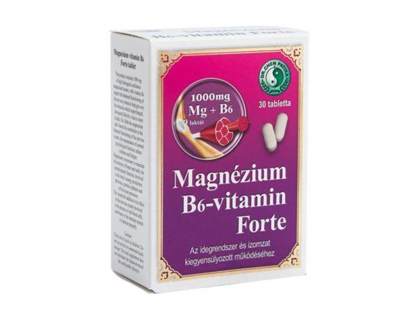 Dr. Chen Magnézium - B6-vitamin forte tabletta - 30db