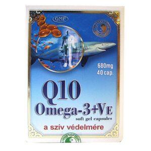 Dr. Chen Q10 + Omega-3 halolaj + E-vitamin kapszula - 40db