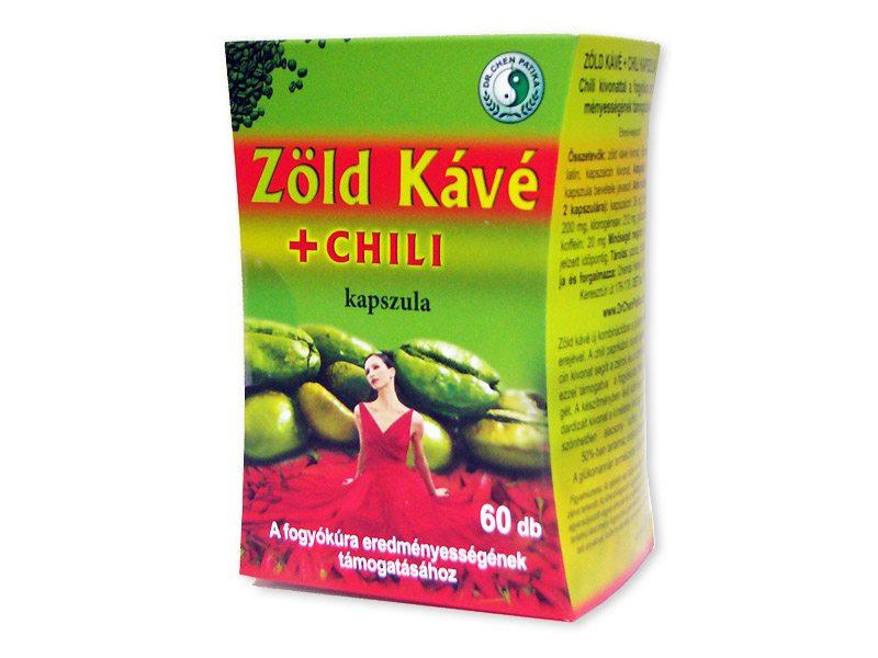 Dr. Chen Zöld kávé + chili kapszula - 60db