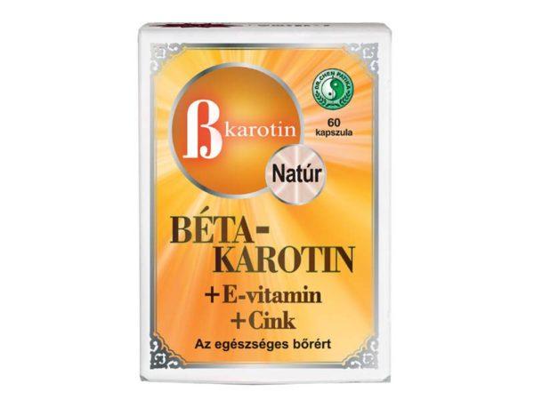 Dr. Chen béta-karotin+e-vitamin+cink kapszula - 60db