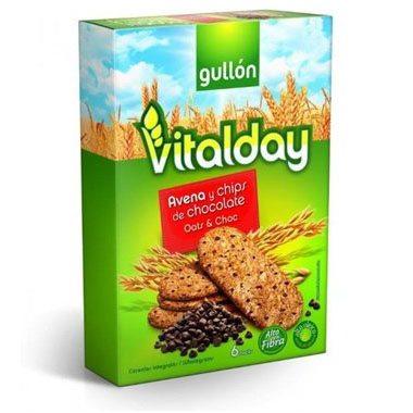 Gullón vitalday zabpelyhes keksz csokis - 240g