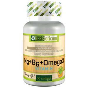 Herbioticum Magnézium + B6 + Omega-3 kapszula - 60db
