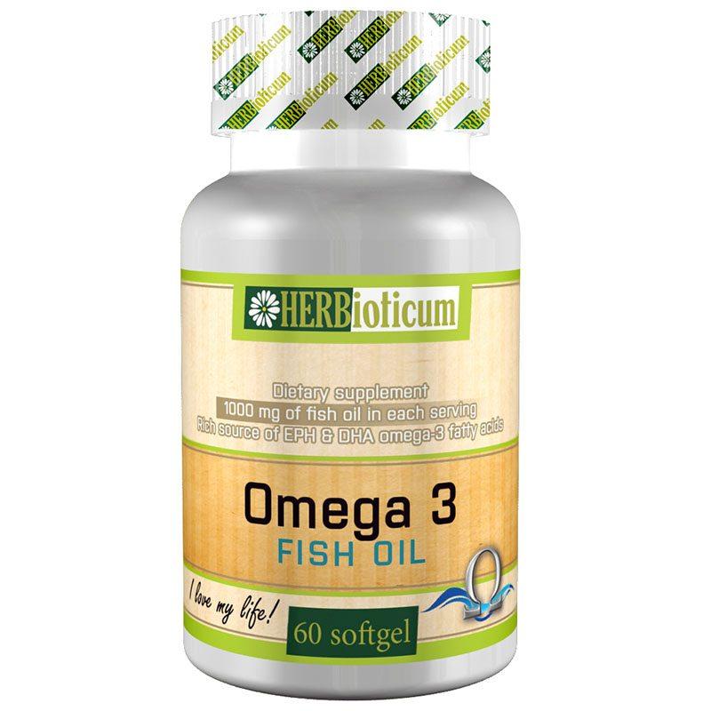 Herbioticum Omega-3 halolaj kapszula - 60db