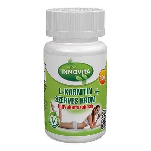 Innovita L-karnitin + Szerves Króm tabletta - 30db