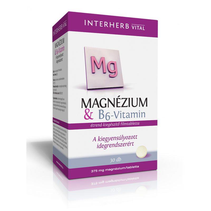 Interherb Magnézium+B6 vitamin kapszula – 30db