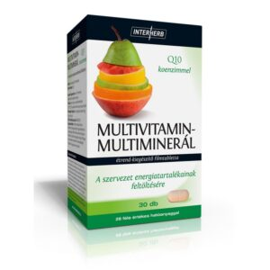 Interherb Multivitamin-Multiminerál+Q10 tabletta - 30db
