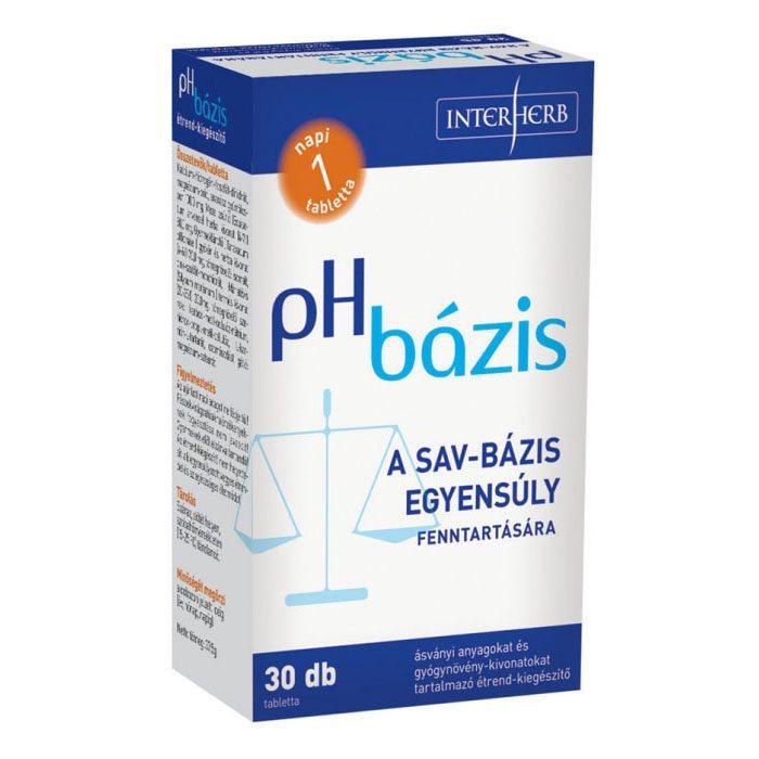 Interherb PH bázisú lúgosító tabletta - 30db