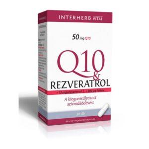Interherb Q10 Rezveratrol kapszula - 30db