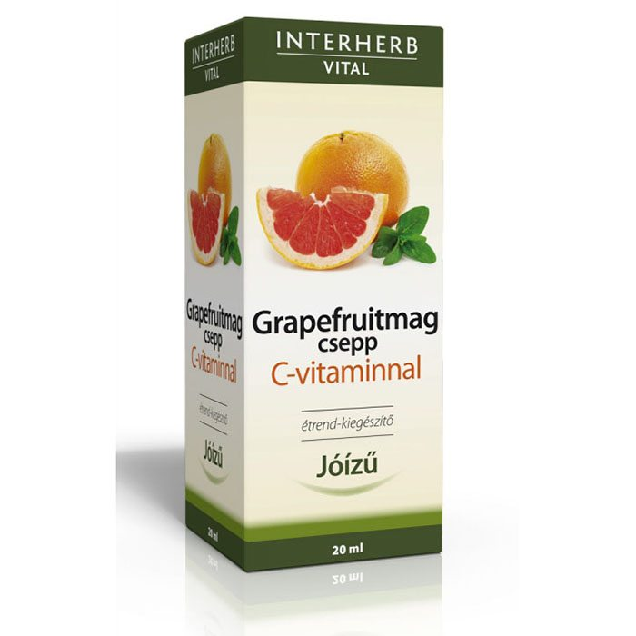 Interherb Vital Grapefruitmag csepp C-vitaminnal - 20 ml