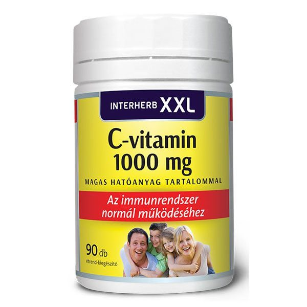Interherb XXL C-vitamin 1000mg tabletta - 90 db