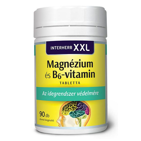 Interherb XXL magnézium és B6-vitamin tabletta – 90db