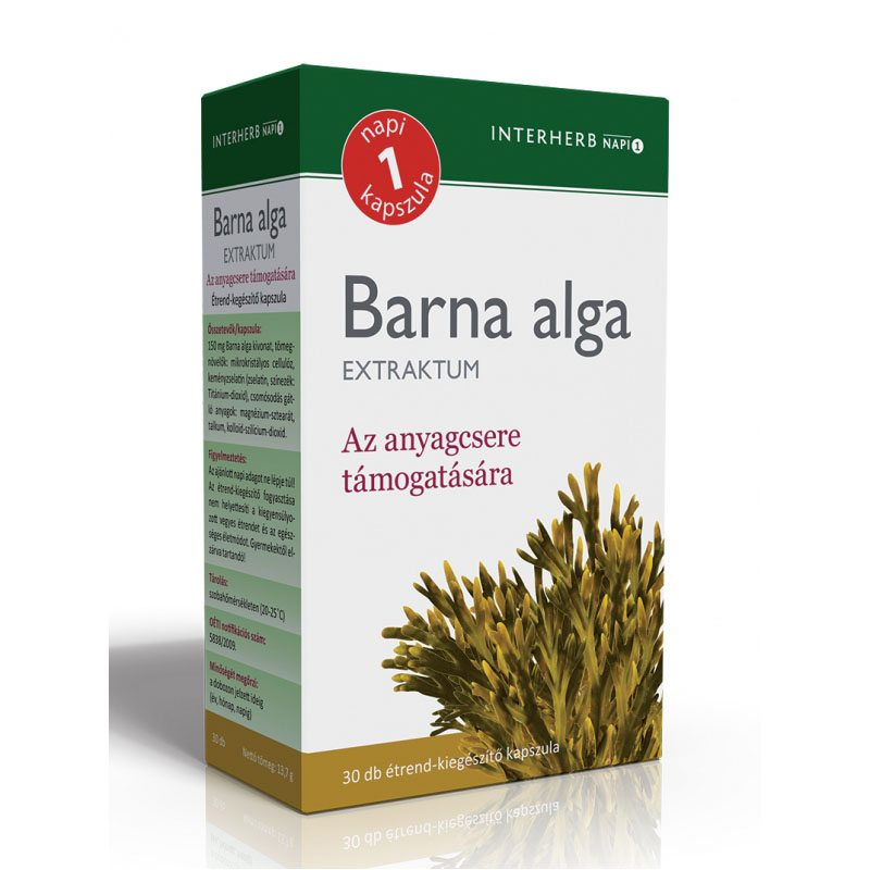 Interherb barna alga extraktum kapszula - 30 db