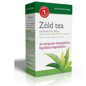 Interherb zöld tea kapszula - 30 db kapszula