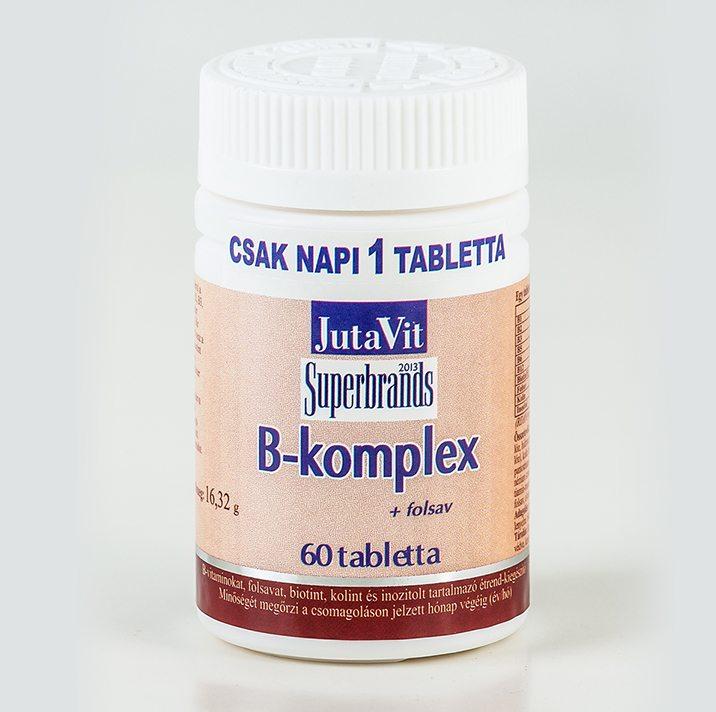 Jutavit B-komplex vitamin tabletta - 60 db