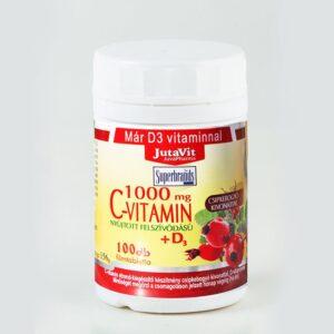 Jutavit C-vitamin 1000mg + D3-vitamin tabletta - 100db