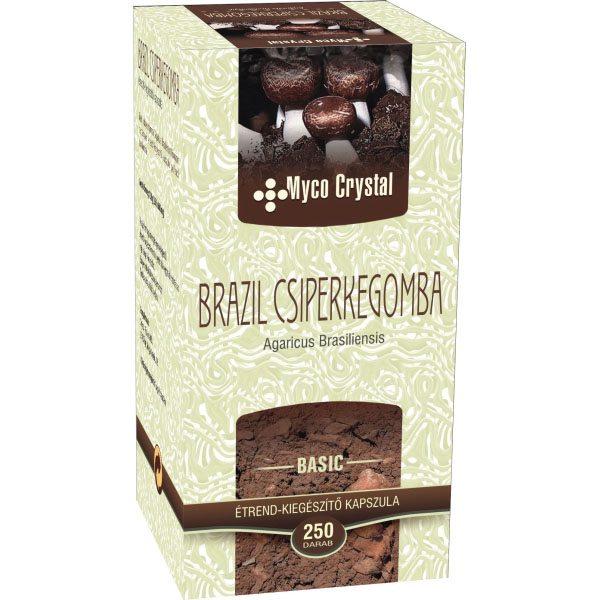Myco Crystal Brazil csiperkegomba kapszula - 250 db