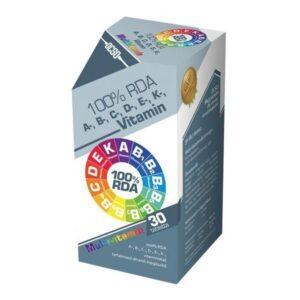 OCSO A-, B-, C-, D-, E-, K-vitamin multivitamin tabletta - 30 db