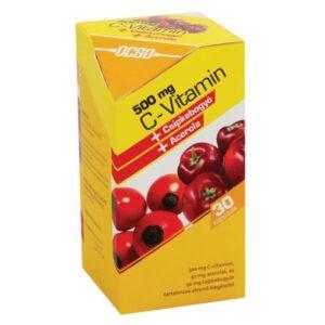 OCSO C-vitamin 500mg csipke+acerola kapszula - 30 db
