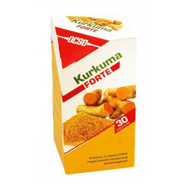 OCSO Kurkuma+E-vitamin Forte kapszula - 30db