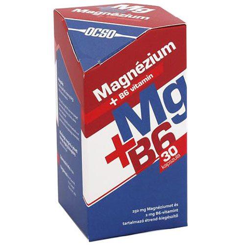 OCSO Magnézium+B6-vitamin kapszula - 30 db