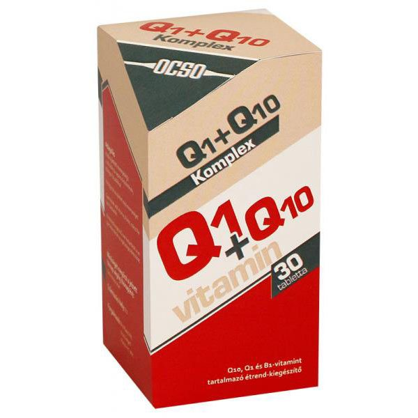 OCSO Q10+Q1 koenzim tabletta - 30 db