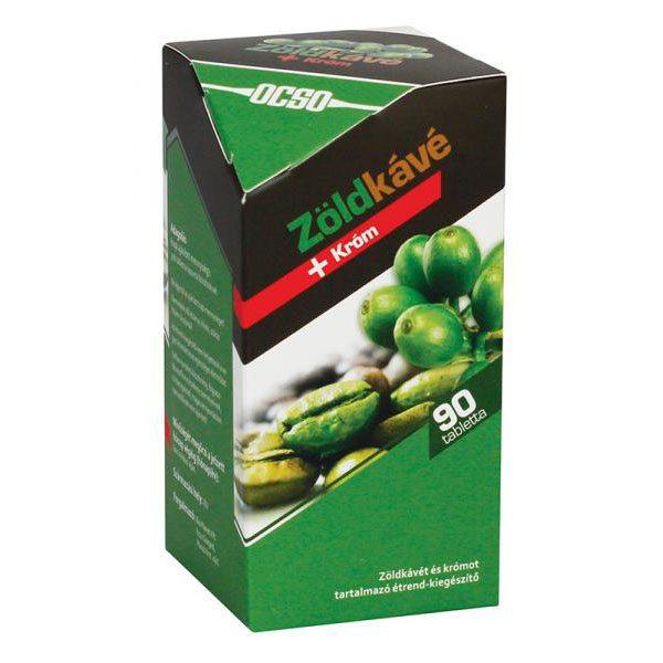 OCSO Zöldkávé + króm tabletta - 90 db