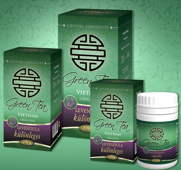 Vita Crystal Green Tea Levendula - 100g