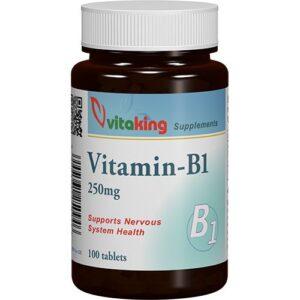 Vitaking B1-vitamin 250mg tabletta - 100db