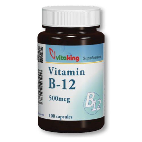 Vitaking B12-vitamin 500mcg kapszula - 100db
