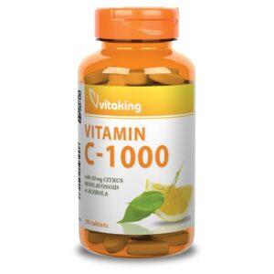 Vitaking C-1000 Bioflavonoid acerola csipke - 90db