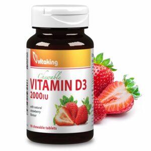 Vitaking-D3-vitamin-2000NE-rágótabletta-90db