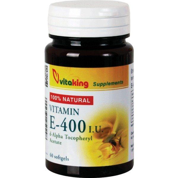 Vitaking Természetes E-400 vitamin gélkapszula - 60db