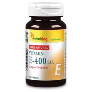 Vitaking E-vitamin 400NE termeszetes - 60db